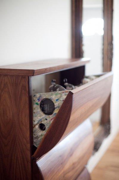 Shoe Cabinet In Walnut